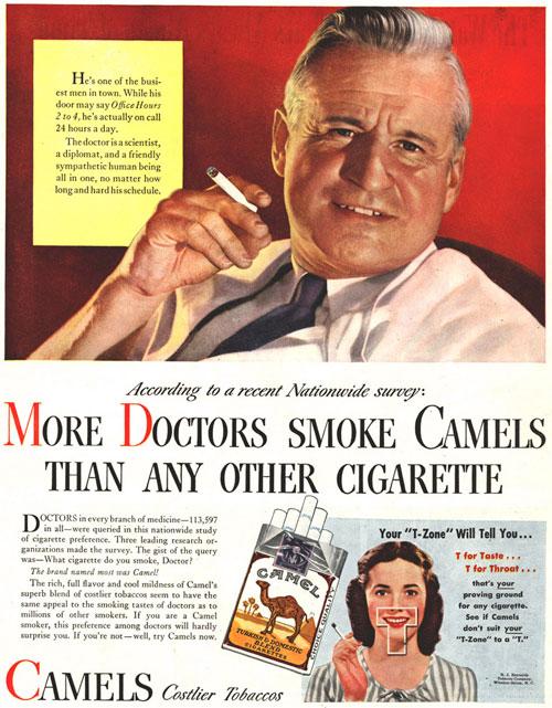 Doctor smoking